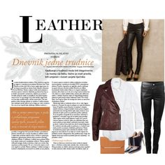"""Leather look"" by morganhina on Polyvore"
