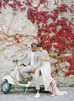 Romantic Italian Fashion Elopement in Hidden Hilltop Village of Ravello - Once Wed Wedding Shoot, Chic Wedding, Wedding Couples, Wedding Styles, Vespa Wedding, Fall Wedding, Parisian Wedding, Honeymoon Inspiration, How To Dress For A Wedding