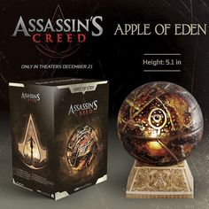 Ubisoft Assassin's Creed Movie Apple of Eden Statue for sale online Shao Jun, Ryu Hayabusa, Assassins Creed Memes, Assasing Creed, Creed Movie, Raven Queen, Weapon Concept Art, Cool Things To Buy, The Creator