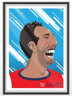 Competition: win a Santi Cazorla print Arsenal Kit, Football Art, Pitch Perfect, World's Most Beautiful, Sports Art, The Magicians, Competition, Illustration, Graphics