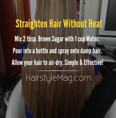 Using heat to curl and straighten your hair is surely an effective way to style hair, but did you realize just how much that damages your hair? Most adults choose to style hair with heat because it… No Heat Hairstyles, Straight Hairstyles, Cool Hairstyles, Damp Hair Styles, Curly Hair Styles, Natural Hair Styles, Natural Curls, Natural Beauty, Straighten Hair Without Heat