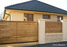 20 Incredible Inspiring ideas For - Zaun Ideen Concrete Fence Wall, Concrete Block Walls, Brick Fence, Wall Exterior, Exterior House Colors, Exterior Design, House Gate Design, Door Gate Design, Modern Fence Design