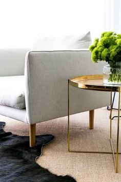 Side table HABIBI by Philipp Mainzer in modern penthouse by C+M Studio. / www.e15.com #brass