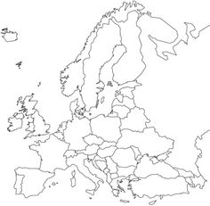 Europe Map / Map of Europe - Facts, Geography, History of Europe European Map, European History, World History, European Countries, Europe Facts, Teaching Geography, Gothic Cathedral, Map Outline, Clipart Black And White