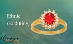 Traditional Gold Ring  Buy Now : http://buff.ly/1YKJZ1T COD Option Available With Free Shipping In India