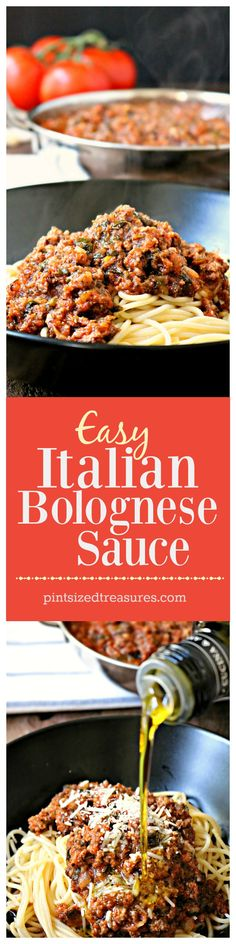 Easy Italian Bolognese sauce is packed full of simmered, powerful flavor --- and fresh veggies! @alicanwrite