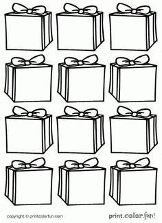 printable holiday gift tags to color - Google Search