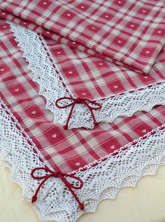 NORDIC HEART TABLE CLOTH - PatriziaB.com  Charming and romantic table cloth, inspired by the Nordic tradition, a splendid mixed cotton/polyester fabric from the Nordic Collection