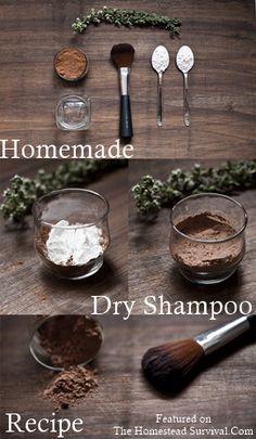 The Homestead Survival   Homemade Dry Shampoo Recipe   Natural Beauty Recipes