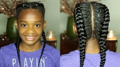 Twin French Braids using Clip-In Extensions | MissKenK