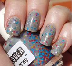 Color Me Gray:  Custom-Blended Glitter Nail Polish / Indie Lacquer