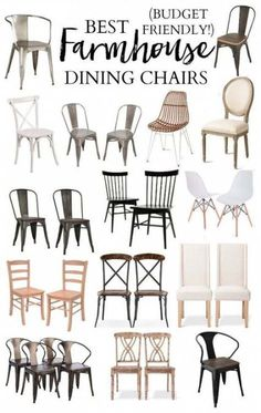 roundup of the best farmhouse dining chairs to make a statement around your farmhouse dining table, all within budget!A roundup of the best farmhouse dining chairs to make a statement around your farmhouse dining table, all within budget!