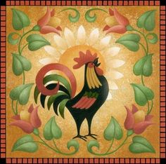 Rooster Sunrise ~ by Stephanie Stouffer