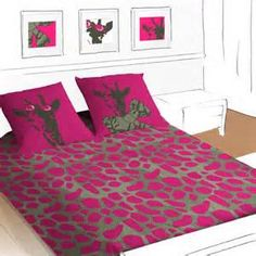 Cool Funny Kids Bedding By Selene : Funny Kids Bedding By Selene With White Purple Gray Wall Bed Pillow With Girrafe Pattern Nightstand Carpet And Hardwood Floor Big Girl Bedrooms, Girls Bedroom, Bedroom Ideas, Girl Rooms, Giraffe Bedroom, White Girls Rooms, Purple Bedding, Kids Bedding Sets, Chic Bedding