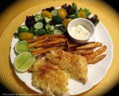 Aiglefin poêlé à la lime + frites santé au four