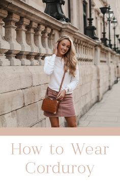 How to Wear Corduroy Fashion Mumblr, Fashion Outfits, Womens Fashion, Fashion Trends, Corduroy Skirt, Winter Skirt, Pink Outfits, Fall Wardrobe, Pink Dress