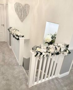 White Wicker Heart As Seen in Mrs Hinch home! Grey And White Hallway, Wicker Hearts, White Wicker, Hallway Decorating, Living Room Decor, Decor Room, Home Furnishings, Home Furniture, Diy Home Decor