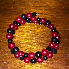 Ruby and black onyx bracelet