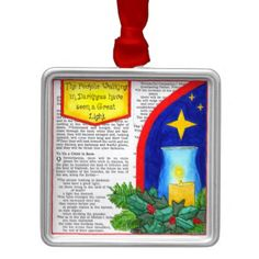 People Walking in Darkness Christmas Ornament - Xmas ChristmasEve Christmas Eve Christmas merry xmas family kids gifts holidays Santa