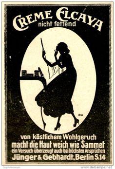 Original-Werbung/ Anzeige 1920 - CREME ELCAYA / JÜNGER & GEBHARDT - BERLIN…