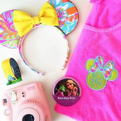 Minnie Bow Monogram Comfort Colors Tank or Pocket Tee with Lilly Pulitzer Fabric – Pretty Little Monograms