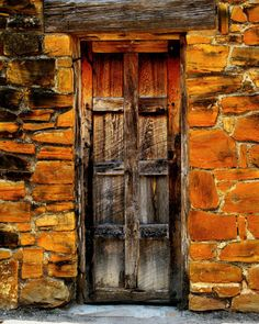 Spanish mission door.By Perry Webster