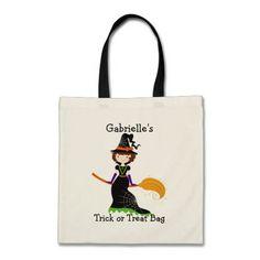 Personalized Custom Halloween Trick or Treat Bag