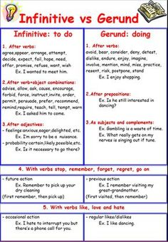 Gerunds and infinitives are sometimes referred to as verb complements. They may function as subjects or objects in a sentence.
