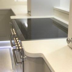 Aspen De Lusso Quartz & Cosmic Black Granite Combination- Letchworth Garden City, Herts - Rock and Co Granite Ltd Aspen, Black Granite, Window Sill, Cosmic, Sink, Quartz, Kitchen Ideas, Grey, Home Decor