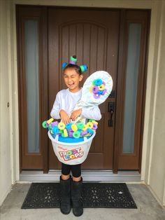 Be a fruit loop in a world full of Cheerios!  Inspired from Studio DIY cereal bowl costume.