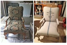 How to paint upholstery with Annie Sloan Chalk Paint by Bella Tucker Decorative Finishes