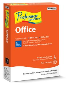 Learn Microsoft Office with Professor Teaches! Microsoft Office 2013 and Office 365 training all in one easy to use software program. Interactive. Realistic. Complete.