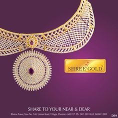 Stunning embedded stone pendant necklace from ShreeGold..