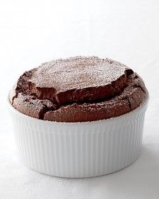 "Chocolate souffle - ""Using a few staple ingredients, you can whip up a dessert that's guaranteed to impress at a dinner party yet easy enough for a casual supper."""