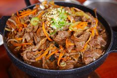 If you can't get enough of Asian-inspired flavors, this Korean beef bulgogi recipe is sure to leave you satisfied! Beef Bulgogi Recipe, Korean Beef, Korean Food, Chinese Food, Wok, Hamburger And Potatoes, Food Carving, Food Print, Pork Chops