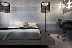 concrete, geo lamp — PROJECT № 115 — Interior design