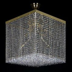 Modern Crystal Cube Lights #ContemporaryLighting Modern Lighting, Lighting Design, Chandelier, Ceiling Lights, Crystals, Cube, Home Decor, Architecture, Light Design