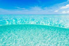 The beautiful water of the Turks and Caicos Islands.
