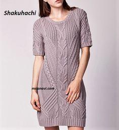 Вязаное платье спицами от Shakuhachi - СХЕМА ПО ССЫЛКЕ НА БЛОГЕ http://mslanavi.com/2018/04/vyazanoe-plate-spicami-ot-shakuhachi/