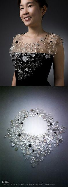 take modge podge or hot glue and glue random clear objects together and create a necklace #Crafts