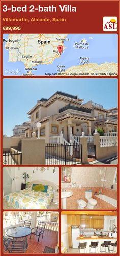 3-bed 2-bath Villa in Villamartin, Alicante, Spain ►€99,995 #PropertyForSaleInSpain