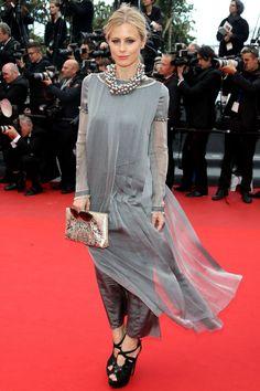 Laura Bailey. Cannes Festival, 2013.