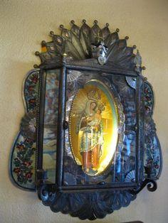 Illuminated Mary, La Posada Hotel & Gardens, Winslow, AZ.