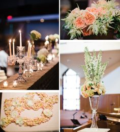 blush florals, neutral wedding decor, blush and champagne wedding colors @Drew Cason Photography http://www.arkansasbride.com/blog/post/96571/style-and-elegance-crystallize-lauren-jackson-and-stephen-raines-real-little-rock-wedding