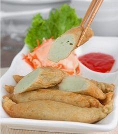 Otak-otak goreng Pork Recipes, Fish Recipes, Snack Recipes, Cooking Recipes, Healthy Recipes, Indonesian Cuisine, Indonesian Desserts, Indonesian Recipes, Food Branding