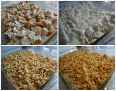 Ritz Cracker Chicken Casserole  - 5 cups chicken breast, cooked and cubed  - 1 cup sour cream and/or room temperature Greek yogurt  - 2 cans cream of chicken soup  - 2 cups Ritz crackers, crushed  - 1/2 cup melted butter
