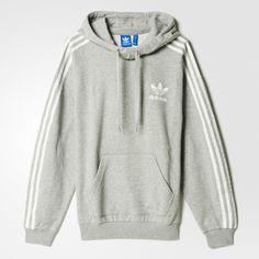 adidas 3-Stripes Hoodie - Grey | adidas US