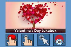 Valentine's Day - free teaching activity for switch, touchscreen, pointing device and eye gaze users. Use online or download for Windows PC.
