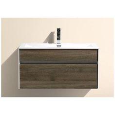 "Kube Bath Fitto 36"" Single Modern Bathroom Vanity Set Base Finish: Havana Oak"