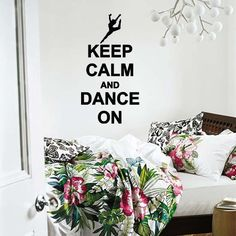 Keep Calm And Dance On Wall Lettering Vinyl Word Art. $10.99, via Etsy.